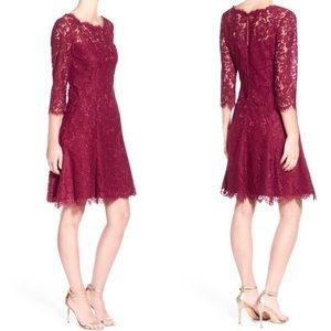 Eliza J | Lace Fit & Flare 3/4 Sleeve Holiday